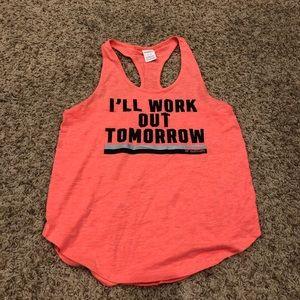 "Neon Coral VS Pink ""Workout"" Tank"